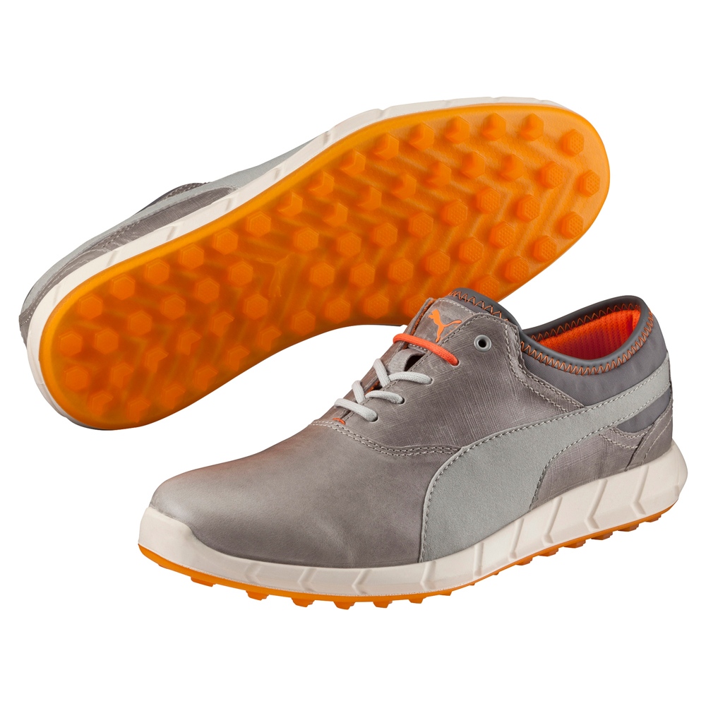 ed1fec285a7558 Cole Golf - Puma Ignite Spikeless Golf Shoes - Grey Orange Puma ...