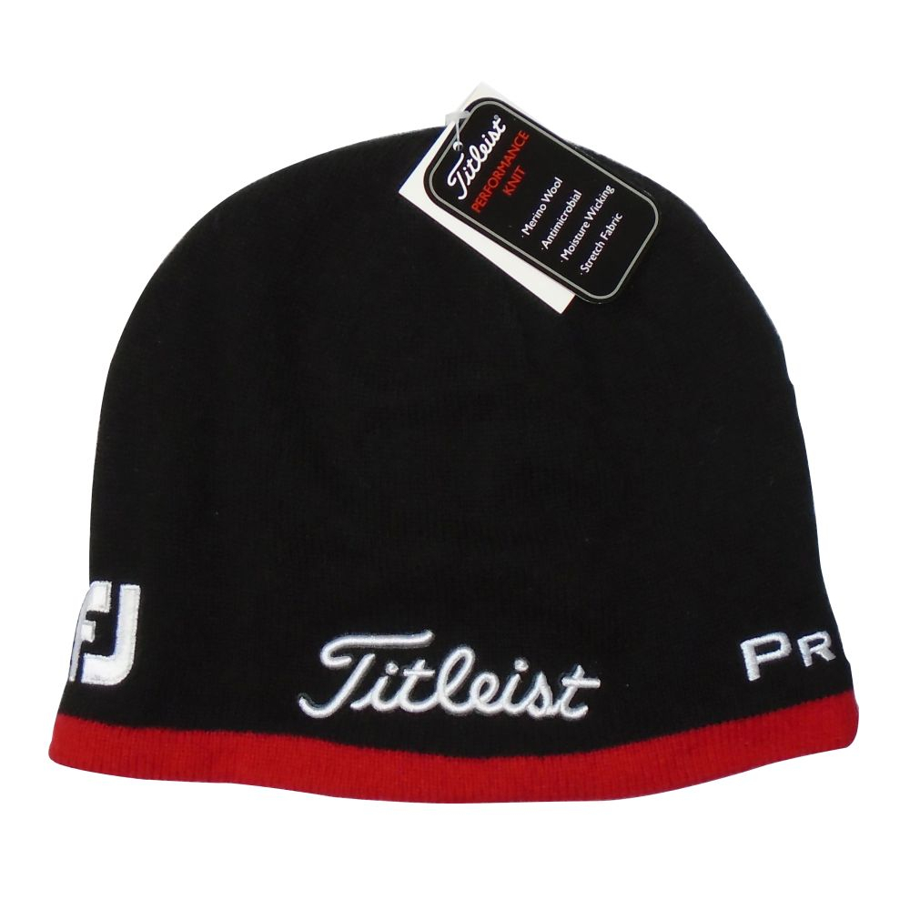 c6b4259c8 Cole Golf - Titleist Beanie Hat - Black/Red Titleist Beanie Hat ...