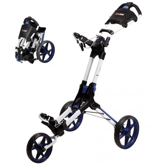 Skymax Cube NXT 3 Wheel Golf Trolley - White/Blue