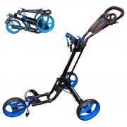 Skymax Qwik Fold 3 Wheel Trolley - Black/Blue