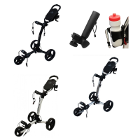 Axglo Tri-Lite 3 Wheel Golf Trolley - Black + 2 Free Accessories