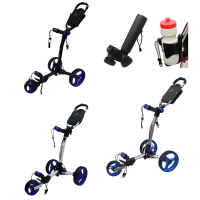 Axglo Tri-Lite 3 Wheel Golf Trolley - Blue + 2 Free Accessories