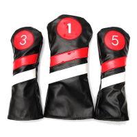 CG 3 Piece Deluxe Leather Wood Headcovers