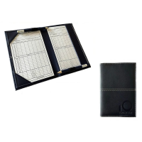 CG Deluxe PU Leather Scorecard Holder - Black