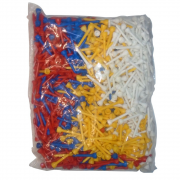 Longridge 1,000 Mixed Long Plastic Tees - 50mm