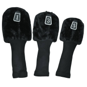 Longridge 3 Peice Longneck Black Wood Headcovers