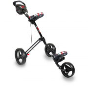 Longridge Eze Tri Plus 3 Wheel Golf Trolley - Black/Red