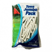 Longridge 100 White Wooden Tees - 70mm