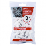 Masters White Graduated Plastic Tees - 51mm