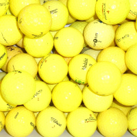 Mix of Practice Grade Yellow Lake Balls - 50 Balls