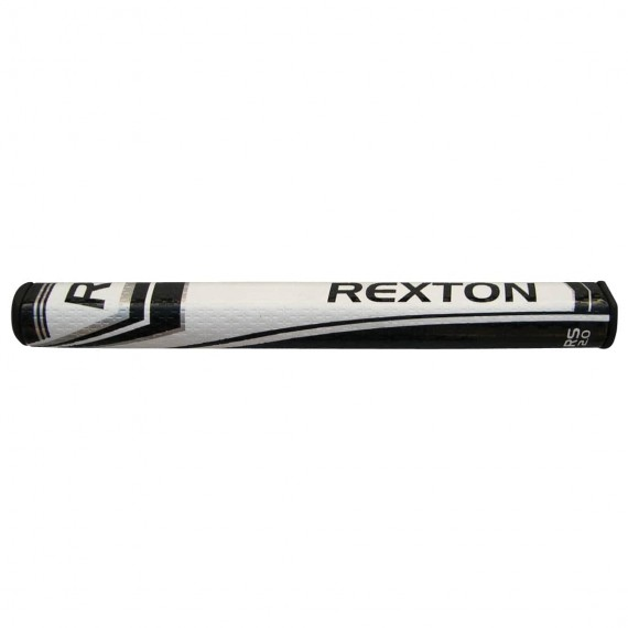 Rexton RS 2.0 PU Straight Putter Grip - Black/White with 2 Grip Tape Strips