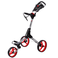 Skymax Cube 3 Wheel Trolley - Silver/Red