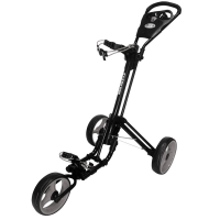 Skymax Qwik Fold 3 Wheel Golf Trolley - Black/Grey