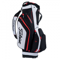 Titleist Lightweight Cart Bag - Black/White/Red