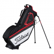 Titleist Players 5 Stand Bag - Black/White/Red