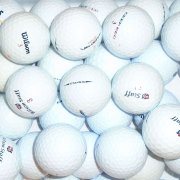 Mix of Wilson White Lake Golf Balls - 25 Balls