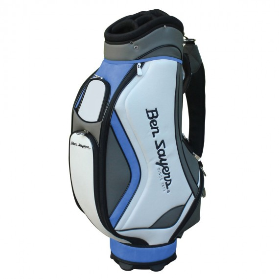 Ben Sayers DLX Tour Cart Bag - White/Blue