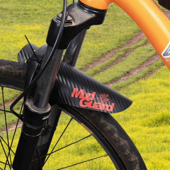 CS Lightweight Carbon Fiber Mud Guards - Black