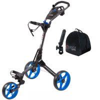 Skymax Cube 3 Wheel Trolley - Black/Blue + 2 Free Accessories