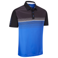Stuburt Endurance Stripe Polo Shirt - Black/Blue